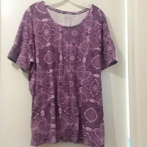 CATHERINES purple paisley shirt